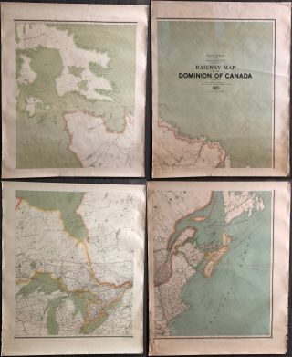 Railway map of the Dominion of Canada 1920. J. E. CHALIFOUR, Joseph Epiphane