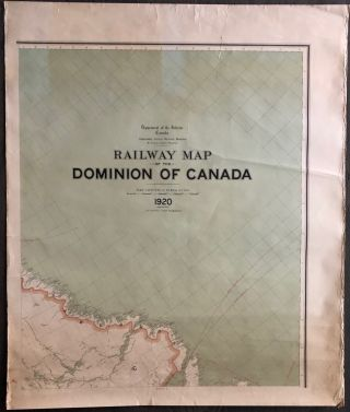 Railway map of the Dominion of Canada 1920