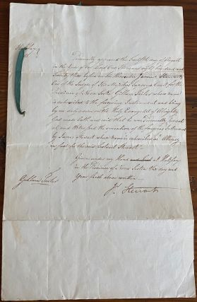James Stewart, Nova Scotia manuscript document with signature of James Kempt. James STEWART,...