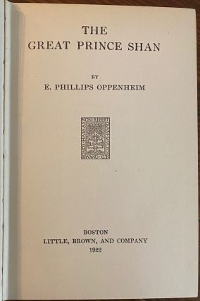 E. Phillips Oppenheim collection