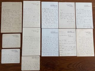 Beatrice Harraden collection of 12 Autographed Letters Signed. Beatrice HARRADEN
