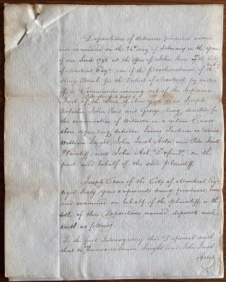 Sir John Johnson, John Jacob Astor and others legal documents regarding Sir William Johnston USA land ownership dispute