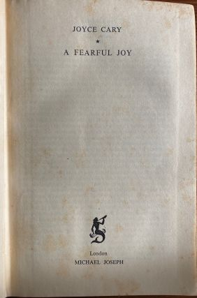 Joyce Cary collection