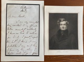 Charles Buller (Chief secretary to Lord Durham) 2 page autographed signed letter and b&w...