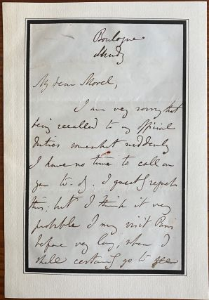 Charles Buller 2 page autographed signed letter and b&w engraving