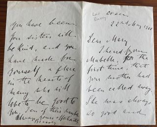 Thomas Brassey 6 autograph letters signed and one card signed, all to Mary Birkett