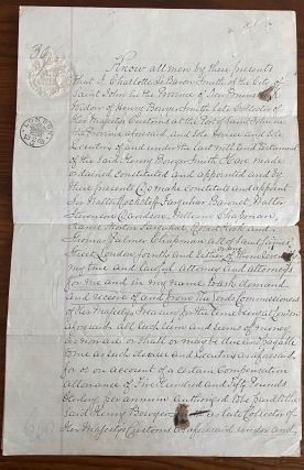 Manuscript signed document, four pages granting Power of Attorney by Charlotte LeBaron Hazen....