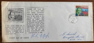 John B. Boyle signature on envelope with his 8¢ Marconi stamp. John Bernard  BOYLE, b1941