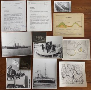 Collection of a group 13 items of miscellaneous, ephemera, letters and photographs of Navy ships relating to Canada including HMCS Provider, HMS Ariadne, other Ships and Bou-Mahni Mines Algiers materials