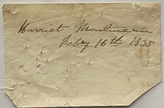 Harriet Martineau signature. Harriet MARTINEAU