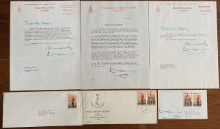 Brigadier-General William W. Turner three typed letters signed and one signed First Day Cover....
