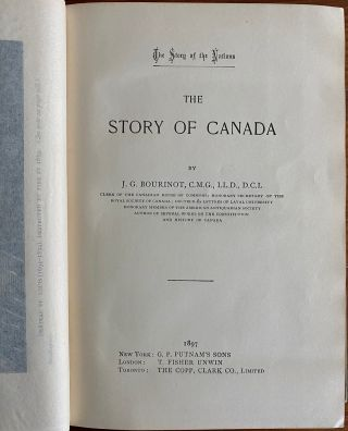 The Story of Canada. [The Story of the Nations Series]
