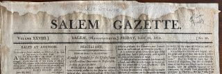 War of 1812 - 15 USA newspaper issues dating from 1812 to 1815