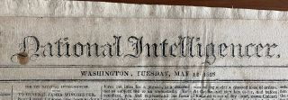 Three National Intelligencer Robert Gourlay newspaper articles