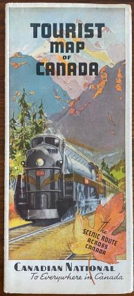 Tourist Map of Canada. Canadian National Railways