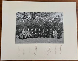 The 1960 Commonwealth Prime Ministers' Conference signed group photo of all 11 attendees. John...