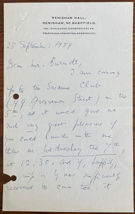 Edith Sitwell Letters collection