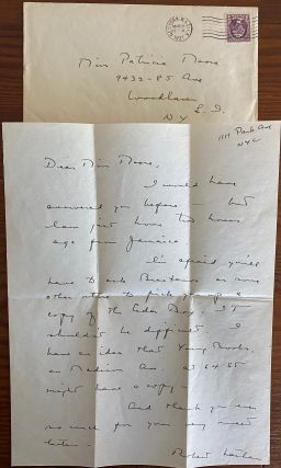 Robert Nathan Letters, Books & Ephemera collection
