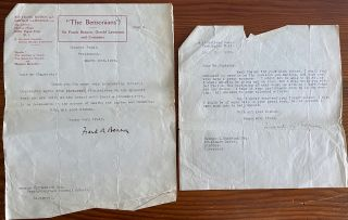 Sir Frank Benson Letters & Ephemera collection
