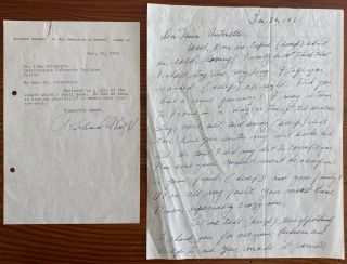Richard Wright 2 Signed Letters. Richard Nathaniel WRIGHT