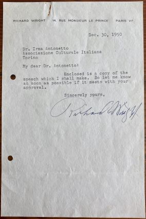 Richard Wright 2 Signed Letters