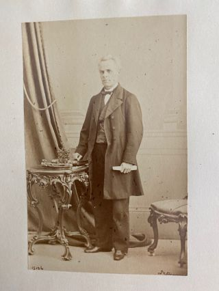 [Honorable George Étienne Cartier] albumen photo