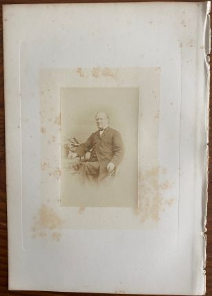 Honorable Joseph Howe] albumen photo. Joseph HOWE, William NOTMAN, photographer