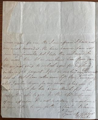 2 page holograph letter from Richard Burke to his aunt