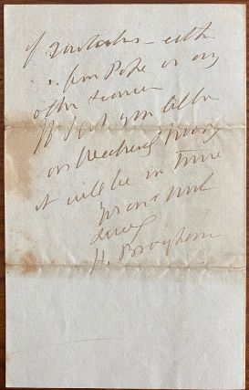 Holograph 4pp. letter dated 22 June 1846 to an unnamed recipient, Mr.P