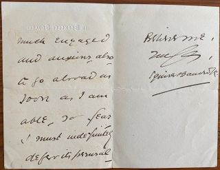 Holograph 3pp. letter dated July 28 1897 to an unnamed recipient