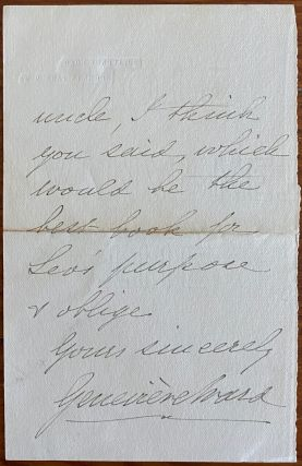 Holograph 2pp. letter from Lucy Geneviève Teresa Ward, Countess de Guerbel to Miss Phelps