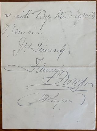 """Holograph 2pp. letter from Frances """"Fanny"""" Whiteside Brough"""
