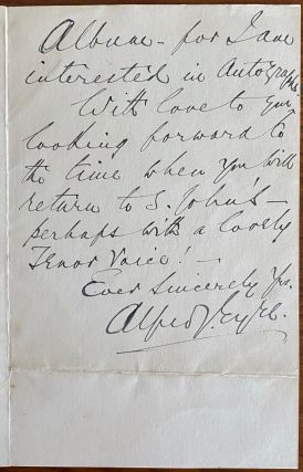 Holograph letter from Alfred James Eyre