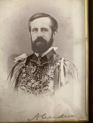 Lord Aberdeen signed photo