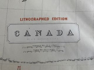 Canada. Lithographed edition