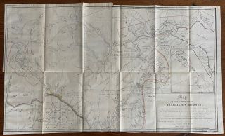Quite scarce set of 6 maps defining the Québec, New Brunswick and Maine Boundaries and showing the boundaries between 1773 and 1842.