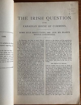 Speeches delivered by Hon. Edward Blake, the leader of the Liberal Party, and a synopsis of the debate on the home rule resolutions in the House of Commons.