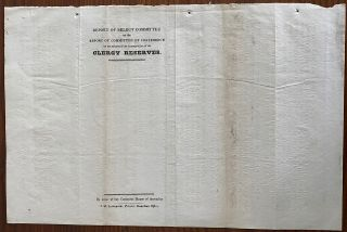 Report of Select Committee on the Report of Committee of Conference on the subject of the appropriation of the Clergy Reserves