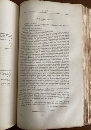 Report on the Affairs of British North America from the Earl of Durham. Folio. 1st edition, [bound with] the 5 Appendices A to E inclusive [Lord Durham Report]