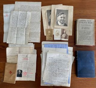WWI British Red Cross in Italy collection. Archives of Dr. George Sandison Brock. Dr. George...