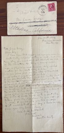 Zane Grey collection of 15 letters written to him