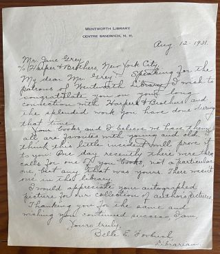 Zane Grey large collection of 89 letters and ephemera