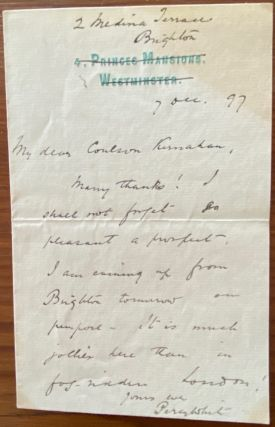 Coulson Kernahan Letters collection