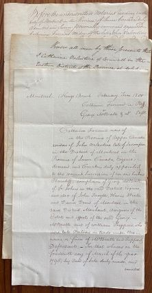 George McBeath, fur trader, and others, Montreal legal cases