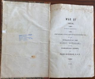 War of 1812. First Series. Containing a Full and Detailed Narrative of the Operations of the Right Division, of the Canadian Army