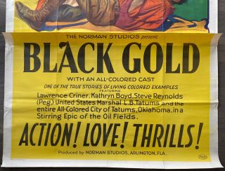 Black Gold Three Sheet large poster (41x81 inches) (3 original flat sections)
